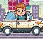 Kids Driving Jigsaw